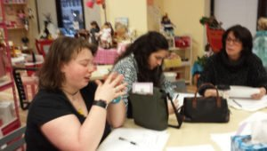 Sheri with trainees