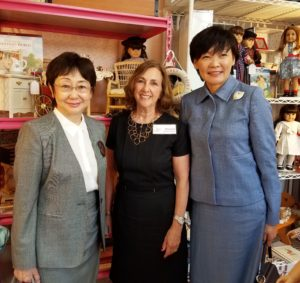 Mrs. Abe and Mrs. Takahashi with Marjorie Madfis