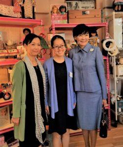 Mrs. Tezuka, Maki, and Mrs. Abe