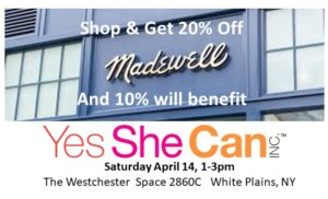 Shopping Spree at Madewell to benefit Yes She Can