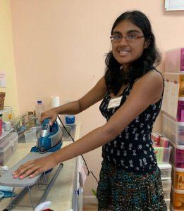 Baneesha ironing