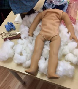 doll with stuffing