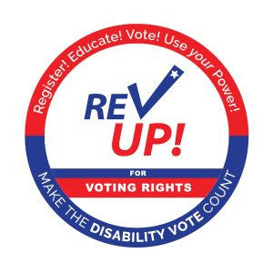 Rev up voting rights logo