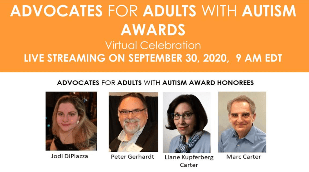 Don't miss our Advocates for Adults with Autism Awards Virtual Event