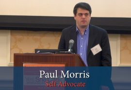 Paul Morris receives Advocates for Adults with Autism Award